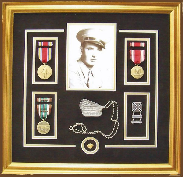 Military Collage with Dogtags Sample